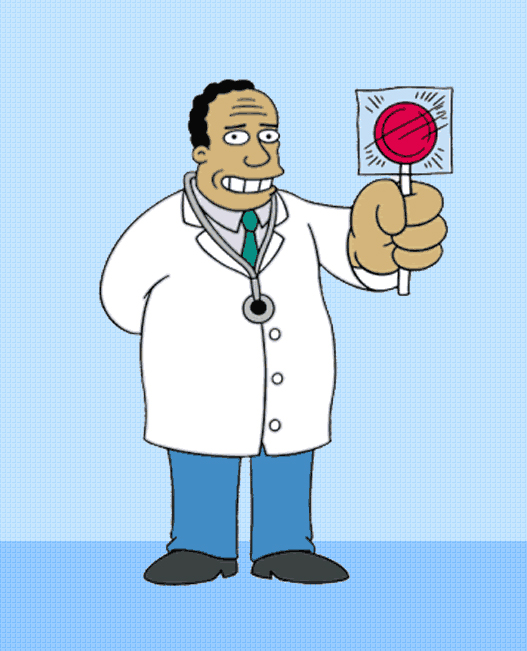 Dr. Hibbert has a surprise for you. He's pretty good.