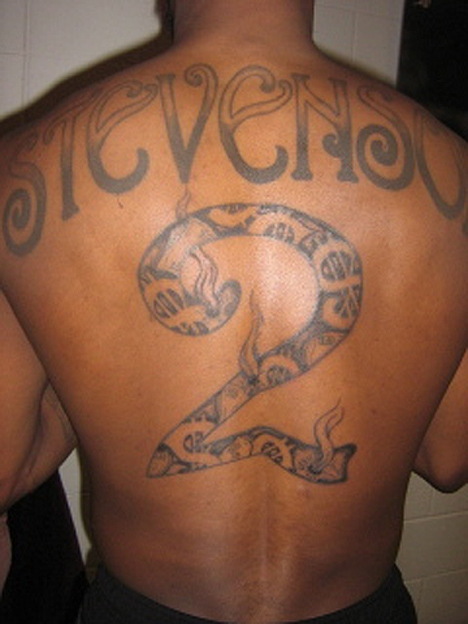 This isn't a real tattoo, but Sideshow Varejao poked some fun at his