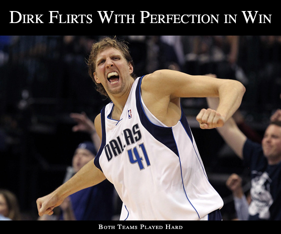 Dirk Nowitzki Mavericks Beat Spurs