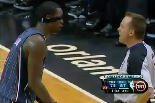 Stephen Jackson Headband Bobcats Magic Game 2