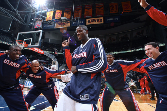 Hawks Dance Marvin Williams Joe Johnson