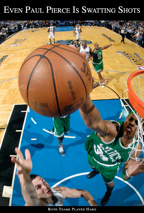 Paul Pierce Blocked Shot