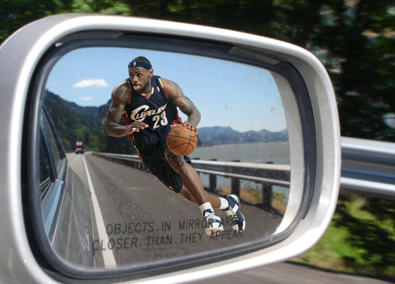 Objects in the mirror are closer than they appear. This series is not.